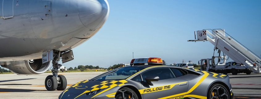 Lamborghini Huracan at Bologna Airport