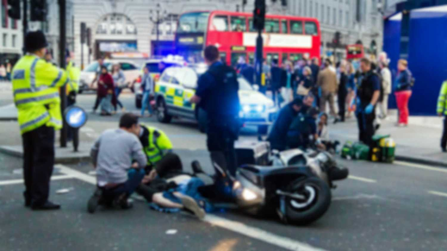 Motorcycle accident in London