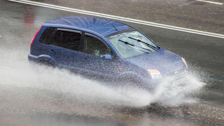 Ford Fusion in the rain