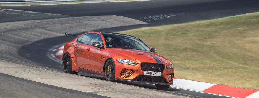 Jaguar XE SV Project 8 at the Nurburgring