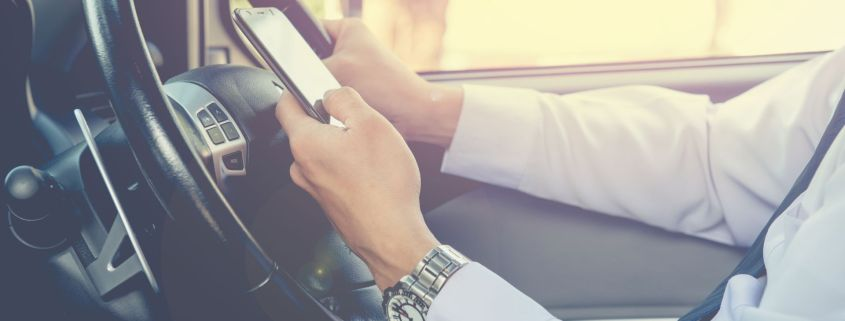 Drivers using their phone