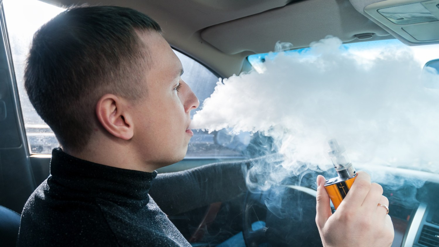 Vaping while driving