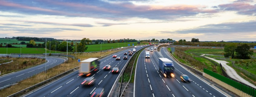 Highways England giving the M1 recycled tyre surface