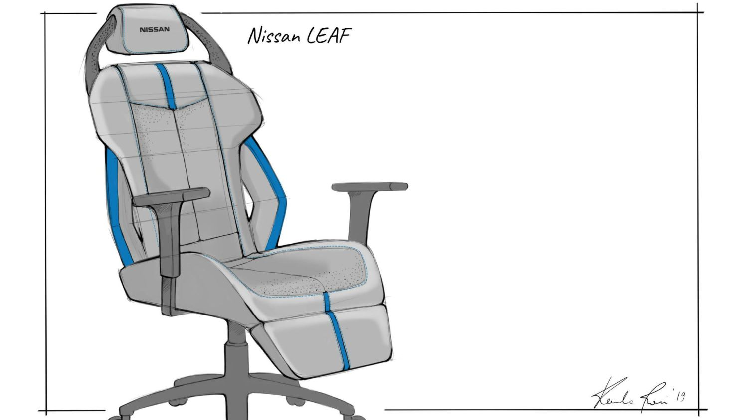 Nissan Leaf gaming chair