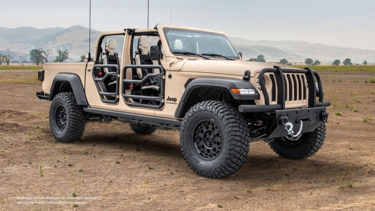 Jeep Gladiator army truck