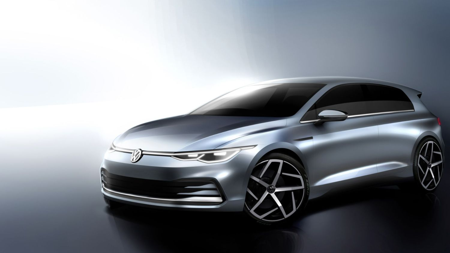 first look at futuristic new mk8 volkswagen golf. Black Bedroom Furniture Sets. Home Design Ideas