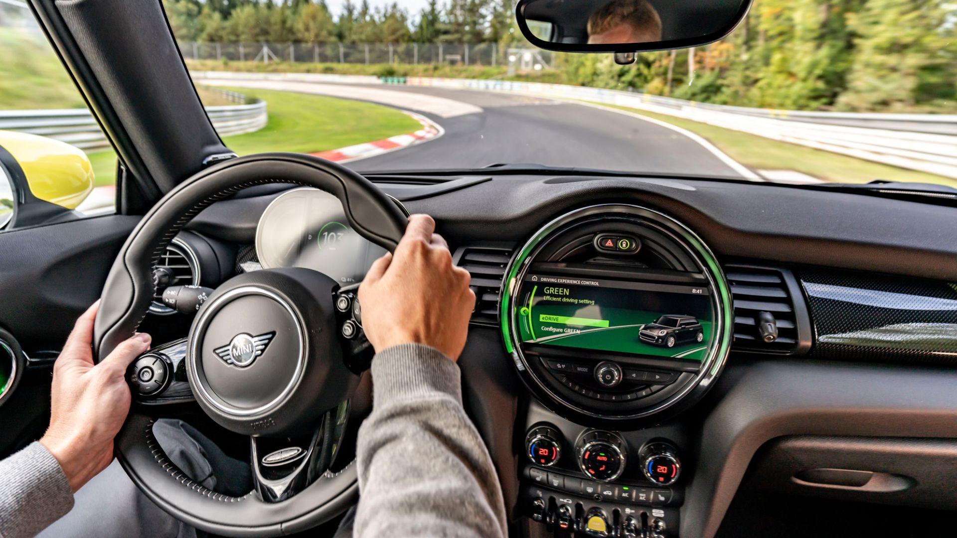 Electric Mini laps the Nurburgring without braking