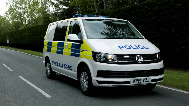 Volkswagen police van