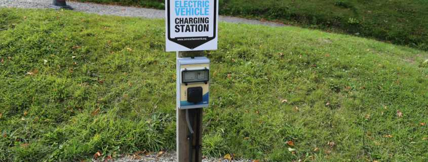 Rural electric charging point