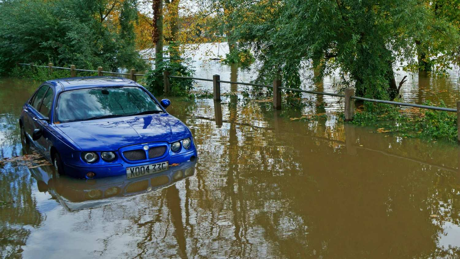MG in flood water