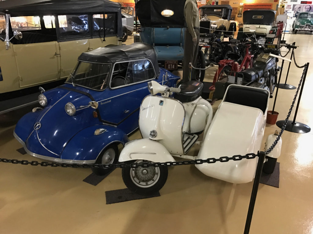 Lambretta and sidecar with Messerschmitt