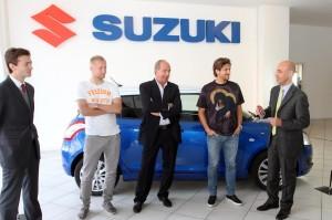 Consegna di Suzuki Swift ai fuoriclasse Granata:Giampiero Ventura, Kamil Glik e Alessio Cerci al concessionario AutoGroup di Torino
