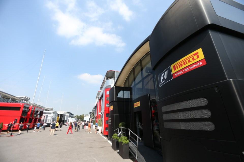 Pirelli motorhome in the Monza paddock