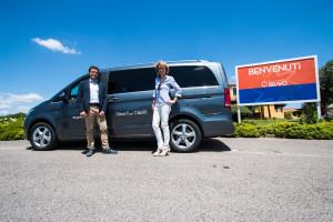 Andrea Verdolotti, Responsabile Marketing Mercedes-Benz vans e Enrica Beltramo, Responsabile Marketing Villaggi Bravo