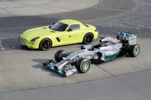 Efficiency equals performance - as F1 has to make drastic steps in improving efficiency, so does the Mercedes-Benz production car development
