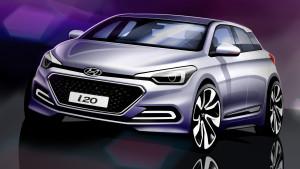 Rendering Nuova Generazione Hyundai i20_vista anteriore