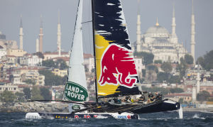 The Extreme sailing Series 2014. Act 6. Istanbul. Turkey. Credit Lloyd Images
