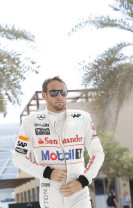 Jenson Button in the paddock.