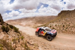 Stephane Peterhansel  races during the 10th stage of Rally Dakar 2015 from Calama, Chile to Salta, Argentina on January 14th, 2015