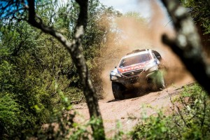 Stephane Peterhansel  races during the 12th stage of Rally Dakar 2015 from  Termas de Rio Hondo to Rosario, Argentina on January 16th, 2015