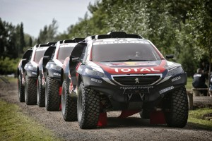 Team Peugeot Total cars arrive for the testing session prior Rally Dakar 2015 in Buenos Aires, Argentina on January 1st, 2015  Peugeot returns to Dakar 2015 // François Flamand/ DPPI/ Red Bull Content Pool // P-20150102-00047 // Usage for editorial use only // Please go to www.redbullcontentpool.com for further information. //