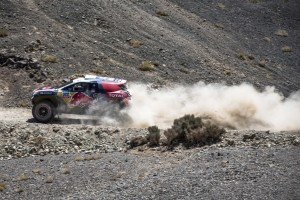 Stephane Peterhansel races during stage 4 of Rally Dakar 2015 from Chilecito, Argentina to Copiapo Chile on January 7th, 2015  Peugeot returns to Dakar // Flavien Duhamel/Red Bull Content Pool // P-20150107-00269 // Usage for editorial use only // Please go to www.redbullcontentpool.com for further information. //
