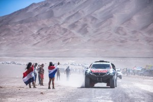 Stephane Peterhansel at the end of the stage 6 of Rally Dakar 2015 from Antofagasta to Iquique on January 9th, 2015
