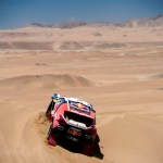 Stephane Peterhansel  races during the 6th stage of Rally Dakar 2015 from Antofagasta to Iquique, Chile on January 9th, 2015