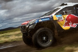 Stephane Peterhansel races during the 7th stage of Rally Dakar 2015 from Iquique, Chile to Uyuni, Bolivia on January 10th, 2015