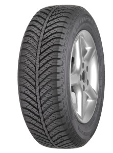 Tire shot Vector 4Seasons 195-65R15 3/4 view tire name on top
