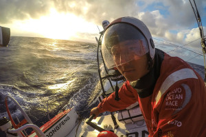 February, 2015. Leg 4 onboard Dongfeng Race Team. Go speed racer, go!