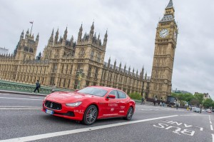 04 Maserati Ghibli departing London