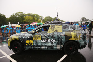 Chris Froome and Jaguar Celebrate Tour de France victory