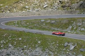 Ferrari 458 Italia sulla Transfagarasan