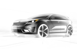 kia niro production model rendering front quarter