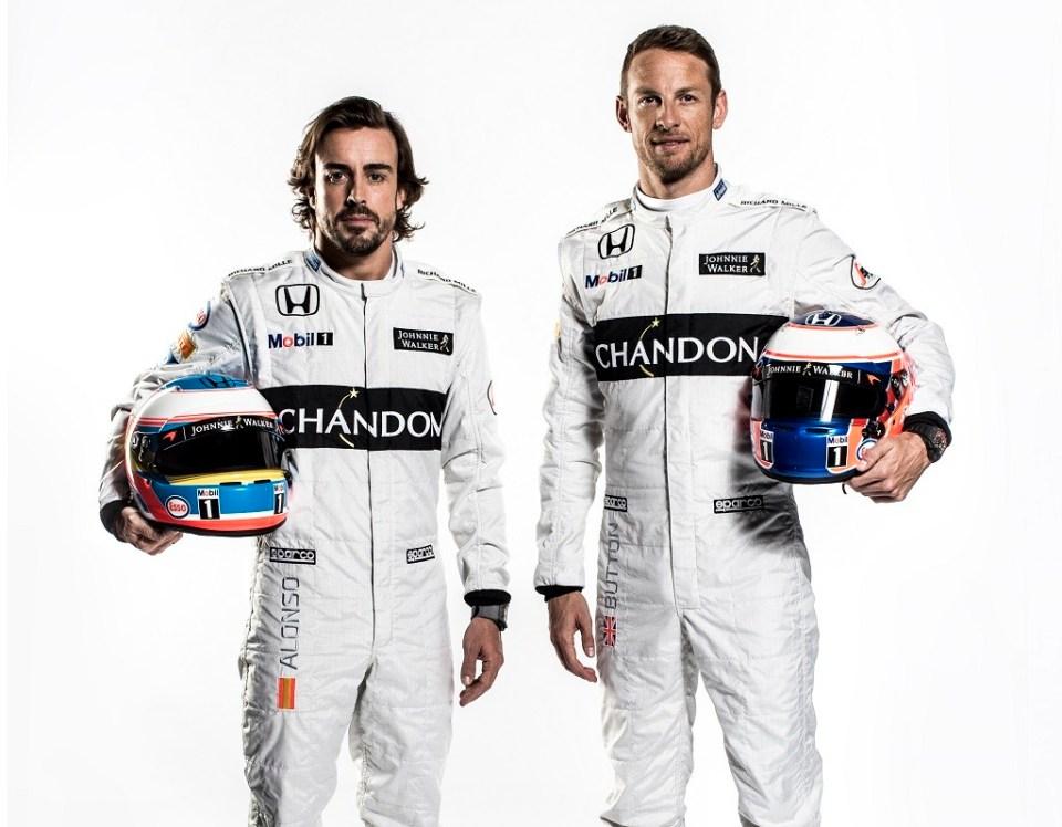 Fernando Alonso & Jenson Button Portrait 2