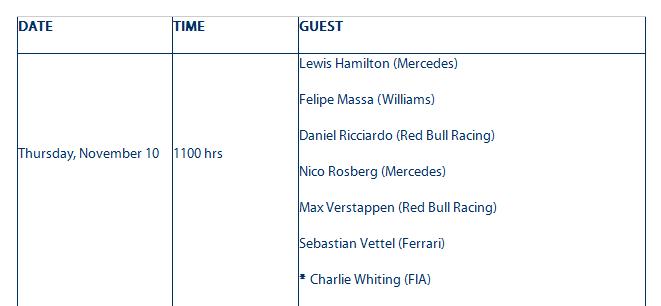 f1-brazilian-grand-prix-press-conferences-schedule-federation-internationale-de-lautomobile