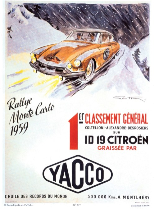 Citroën DS al 1 Rally di Monte Carlo (1959)