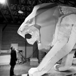 Lion PEUGEOT Making Of 003 – Photo Credit Mikael Pennec