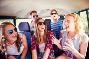 45742411 – beautiful young people on a road trip on a summers day