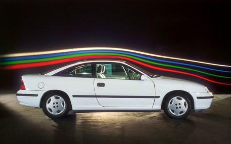 Opel Calibra im Windkanal, 1989