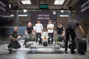 Lewis Hamilton & Valtteri Bottas Keep Their Inner Cool At The Launch Of PETRONAS Syntium Hybrid Performance Lubricants