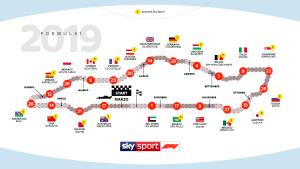 calendario F1 2019