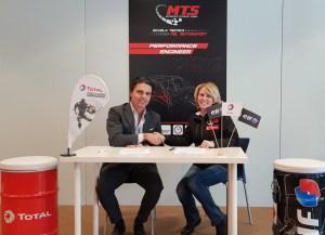 Firma accordo Total Italia – MTS_Filippo Redaelli ed Eugenia Capanna