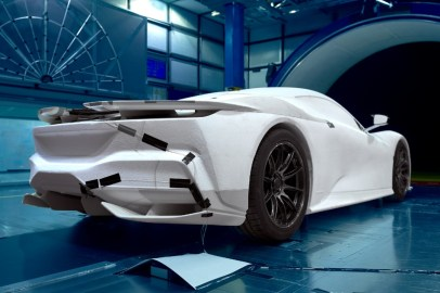 Battista wind tunnel testing - Rear -¥