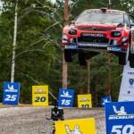 La Citroe¦ên C3 WRC dell'equipaggio finlandese conquista il secondo posto al Rally di Finlandia (1)