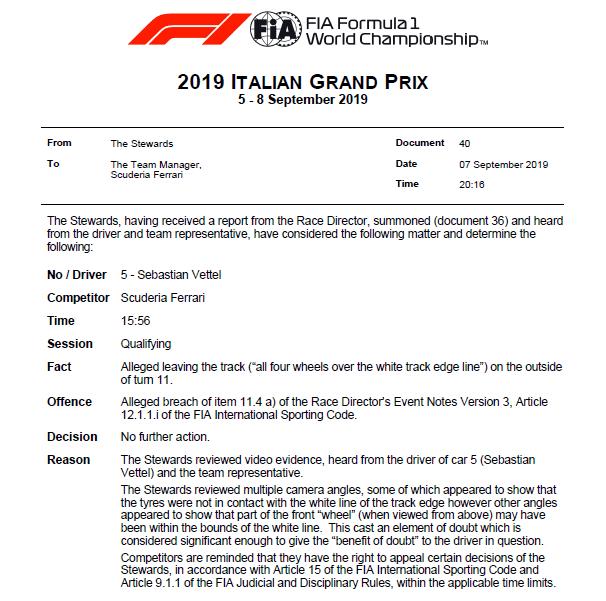 vett qual FIA