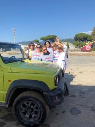 Giornaliste estere press tour partenza tour cave