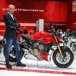 Ducati EICMA 2019 – Claudio Domenicali (CEO Ducati), Streetfighter V4 S