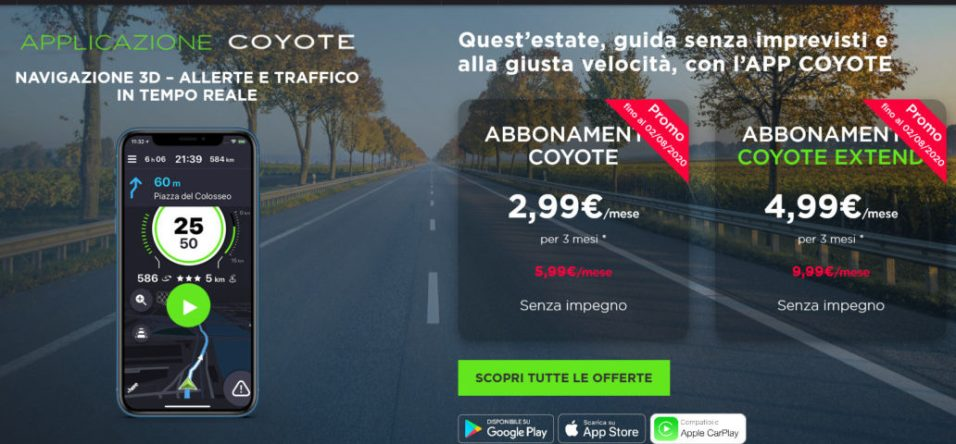 Screenshot_2020-06-22 Applicazione Coyote, autovelox in tempo reale - Coyote